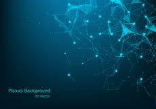 Grande fondo di visualizzazione di dati Fondo astratto virtuale futuristico moderno Modello della rete di scienza, binari di racc royalty illustrazione gratis