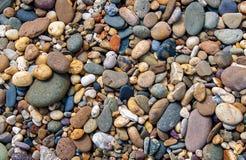 Grande fondo variopinto delle pietre Fotografia Stock Libera da Diritti