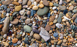 Grande fondo variopinto delle pietre Fotografie Stock Libere da Diritti