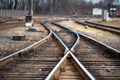 Grande forquilha vazia da estrada de ferro imagem de stock