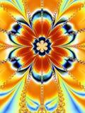 Grande fractale colorée de fleur Photos stock