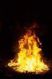 Grande fuoco cerimoniale alla notte Fotografia Stock Libera da Diritti
