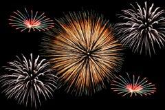 Grande fuoco d'artificio Fotografia Stock Libera da Diritti