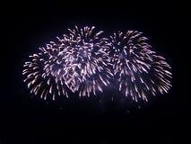 Grande fuoco d'artificio festivo Fotografie Stock Libere da Diritti