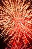 Grande fuoco d'artificio rosso Immagini Stock Libere da Diritti