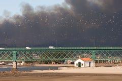 Grande fuoco in Serra de Perre Fotografia Stock Libera da Diritti
