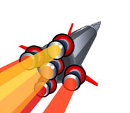 Grande fusée d'espace Photographie stock