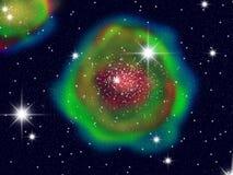 Grande galassia di colore Fotografia Stock Libera da Diritti