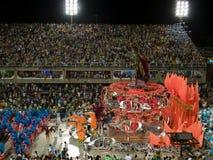 Grande galleggiante, carnevale 2008 di Rio. Fotografia Stock Libera da Diritti