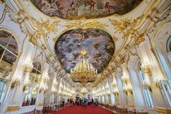 Grande galleria del palazzo di Schonbrunn, Vienna fotografia stock libera da diritti