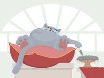 Grande gatto e mouse Immagine Stock Libera da Diritti