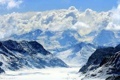 Grande ghiacciaio del aletsch Fotografie Stock