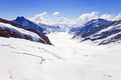 Grande ghiacciaio di Aletsch Immagini Stock