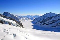 Grande ghiacciaio di Aletsch, Svizzera Fotografia Stock Libera da Diritti