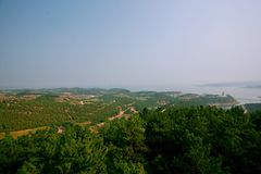 Grande giardino di vista di Danjiang, Henan Immagini Stock
