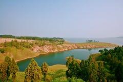 Grande giardino di vista di Danjiang, Henan Fotografie Stock