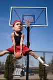 Grande giocatore di pallacanestro capo Fotografie Stock