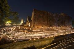 Grande giorno di Buddha in Tailandia Fotografie Stock