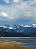 Grande giorno nel grande lago Fotografia Stock