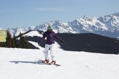 Grande giorno per lo snowboard Fotografia Stock Libera da Diritti