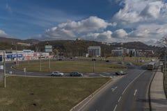 Grande giunzione nella città di Usti nad Labem fotografie stock libere da diritti