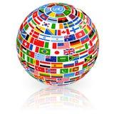 Grande globo della bandiera Fotografia Stock Libera da Diritti
