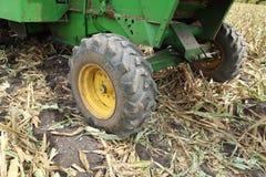Grande gomma di gomma posteriore del trattore Fotografia Stock