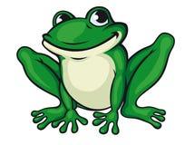 Grande grenouille verte Photo libre de droits