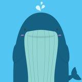 Grande grosse baleine mignonne Illustration de Vecteur