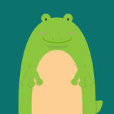 Grande grosse grenouille mignonne Illustration de Vecteur