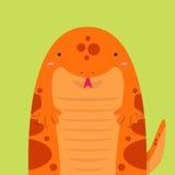 Grande grosse salamandre rouge mignonne Illustration Libre de Droits