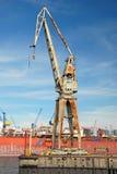 Grande gru del porto Immagini Stock