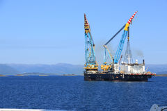 Grande gru offshore Fotografie Stock