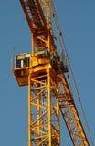 Grande grue jaune à Montréal, Canada photographie stock libre de droits