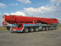 Grande grue rouge Images stock