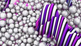 Grande grupo das esferas ou pérolas ou esferas abstratas brancas Fotos de Stock Royalty Free
