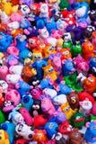 Grande grupo de brinquedos da argila Fotografia de Stock Royalty Free