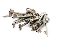 Grande grupo de chaves velhas Imagem de Stock