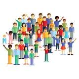Grande grupo de crianças Imagens de Stock Royalty Free