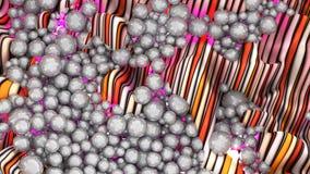 Grande grupo de esferas ou pérolas ou esferas abstratas cinzentas Fotos de Stock
