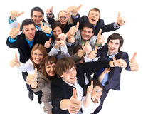 Grande grupo de executivos. imagem de stock royalty free