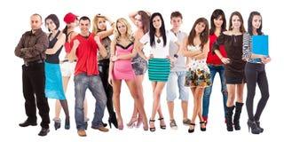 Grande grupo de jovens Foto de Stock Royalty Free
