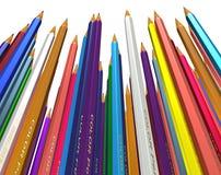 Grande grupo de lápis coloridos Foto de Stock