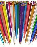 Grande grupo de lápis coloridos Imagem de Stock