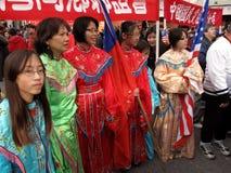 Grande grupo de mulher no festival Foto de Stock Royalty Free