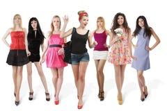 Grande grupo de mulheres novas Imagem de Stock Royalty Free