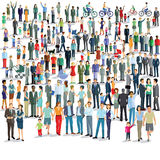 Grande grupo de pessoas ilustração do vetor