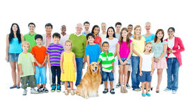 Grande grupo de pessoas diverso imagens de stock royalty free