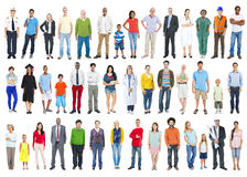 Grande grupo de povos diversos coloridos multi-étnicos Imagens de Stock