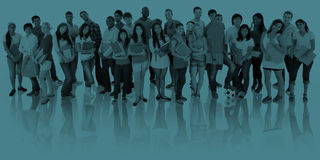 Grande grupo de sorriso internacional dos estudantes Imagem de Stock